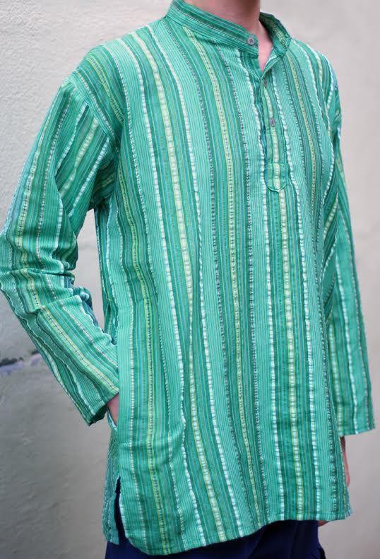 Хлопковая рубашка в полоску (Москва)