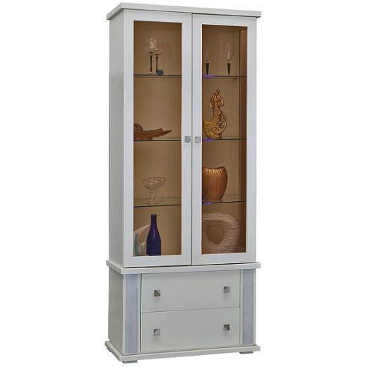 Шкаф с витриной Тунис П343.22Ш
