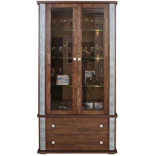 Шкаф с витриной Тунис П343.20Ш