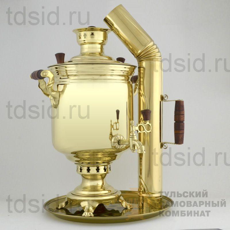 Набор 7л «Традиционный» самовар, поднос, труба