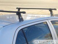 Багажник на крышу Volkswagen Polo hatchback, 1995-2001, Amos, прямоугольные стальные дуги