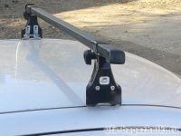 Багажник на крышу Skoda Fabia MK1 хэтчбек, Amos, прямоугольные стальные дуги