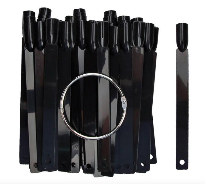 Палитра «складной веер» на кольце черная