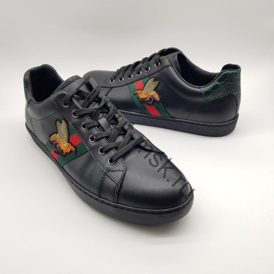 93dffa42 Мужские кеды, кроссовки Gucci (Гуччи) из натуральной кожи купить ...