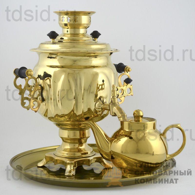 Набор «Овал» самовар 3л, поднос, чайник