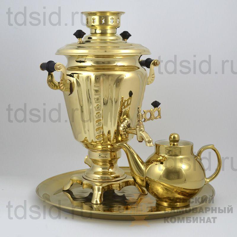 Набор «Рюмка» самовар 3л, поднос, чайник