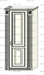 Шкаф-пенал (колонка) Ферсия, мод. 8 для белья (Б) или платья (П) МДФ