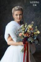 Белый свадебный палантин