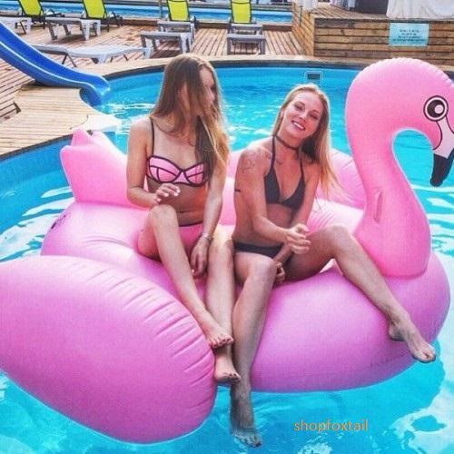 Надувной матрас Гигантский розовый фламинго