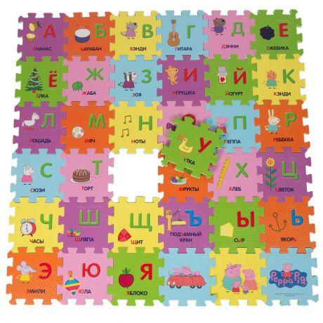 Коврик-пазл Peppa Pig Учим азбуку с Пеппой,36 сегм.(рус.алфавит)
