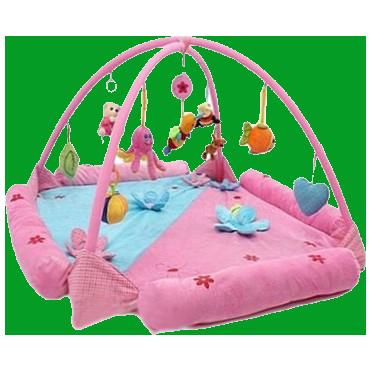 """Felice F Детский коврик """"Цветочная поляна"""" с муз. птичкой, игров.дуги с игрушк.,10FS"""