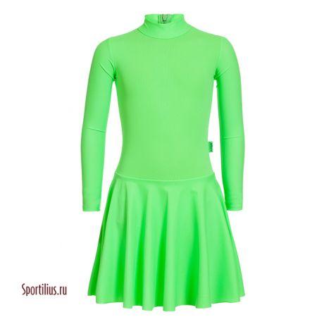 Платье из бифлекса салатовое