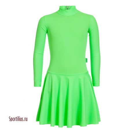 Платье салатовое с воротничком