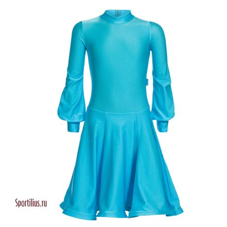 "Платье из бифлекса бирюзовое ""Сандра"""