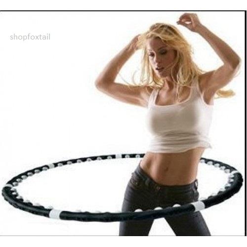 Разборный массажный обруч с магнитными вставками Hoop Exerciser