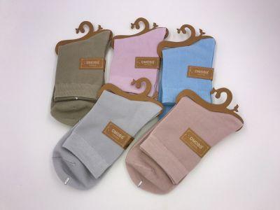 Женские однотонные хлопчатые носки 36-41 рр