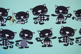 Коты на меноле футер 2-х нитка