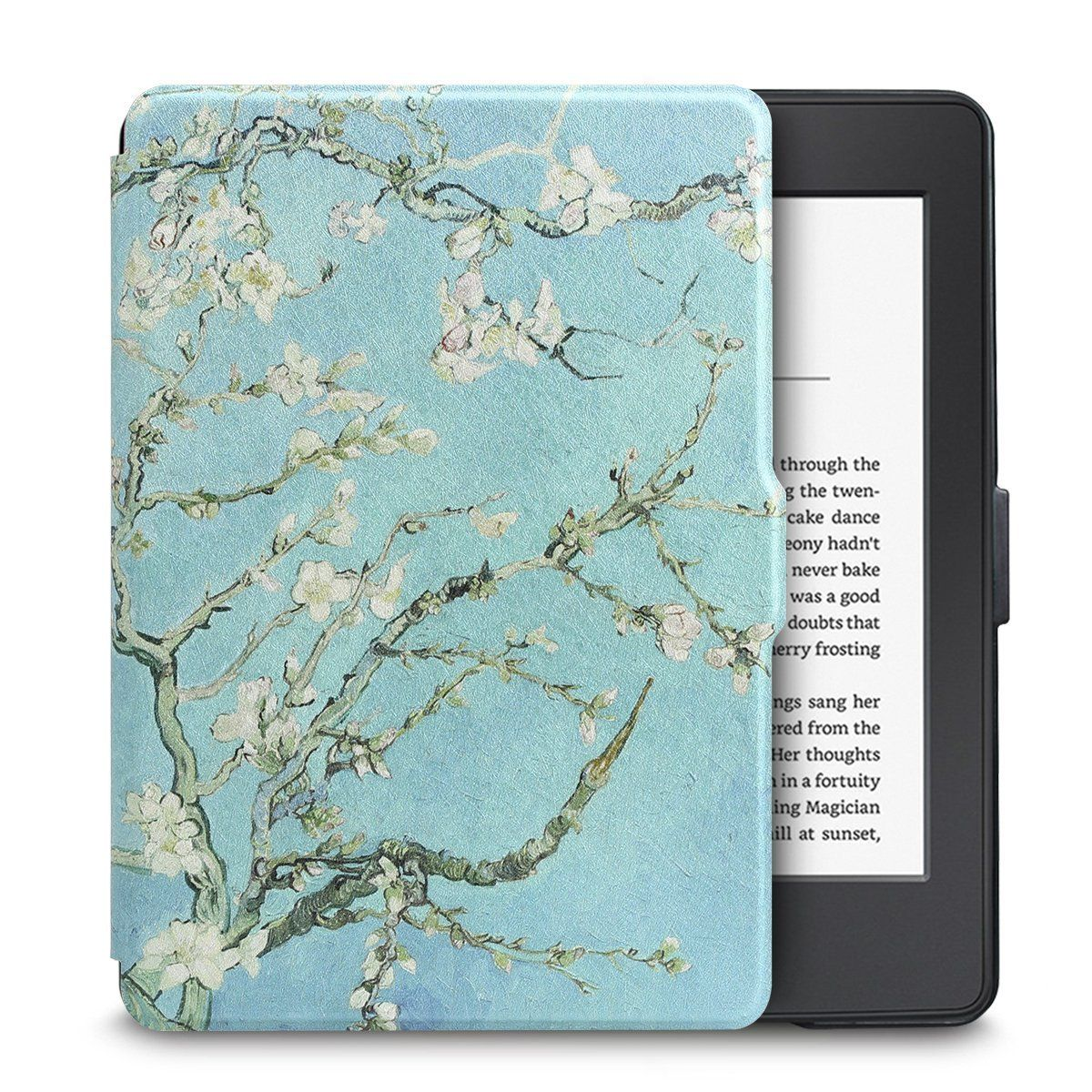 Чехол-обложка  для Amazon Kindle Paperwhite (Цветы на дереве)