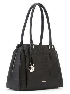 Кожаная сумка с цветочным тиснением