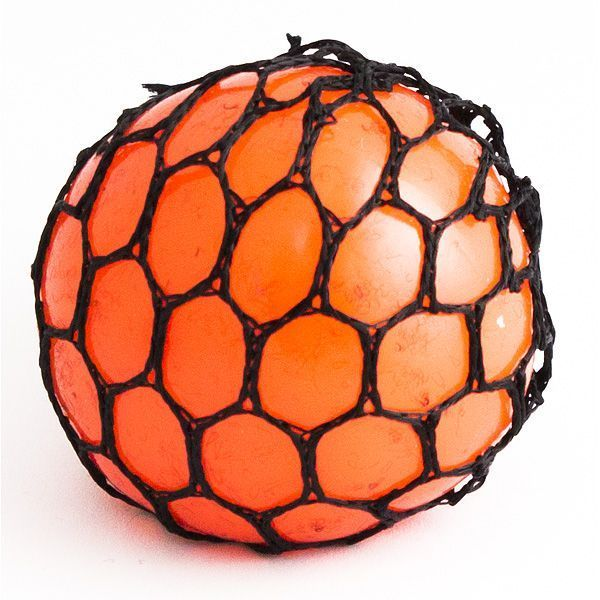 Игрушка-мялка Шарик оранжевый