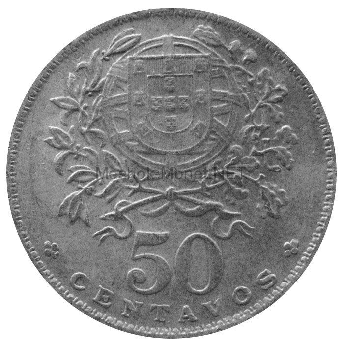 Португалия 50 сентаво 1966 г.