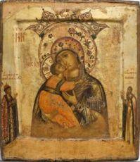 Икона Владимирская (Волоколамская) Божия Матерь