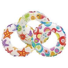 Надувной круг Lively 3 вида, Intex арт.59241 61см, для детей от 6 до 10 лет