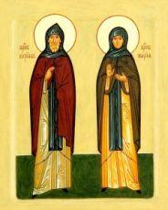 Кирилл и Мария Радонежские (икона на дереве)