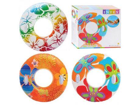 Надувной круг Transparent 97 см, от 9 лет, 3 цвета. INTEX 58263