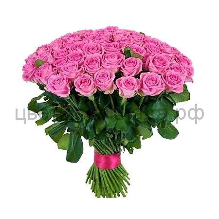 Аква розовая роза России 101 штука