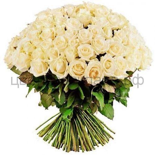 Талея кремовая роза России 60 см 101 штука
