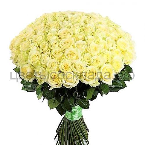 Аваланж белая роза России 101 штука