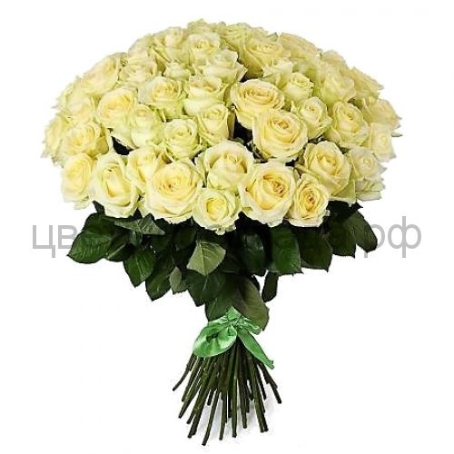Аваланж белая роза 51 штука