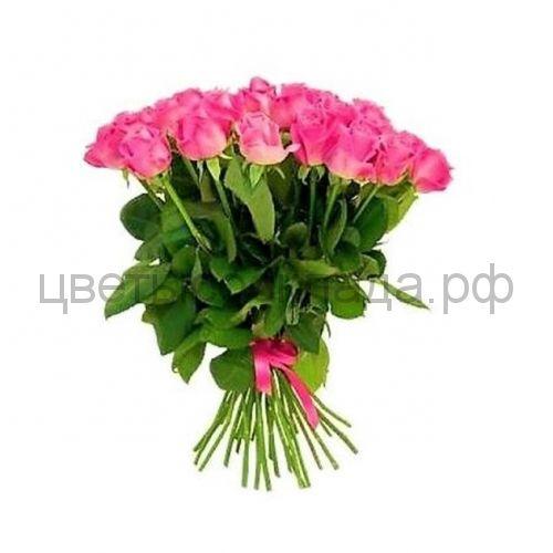 Аква розовая роза России 31 штука