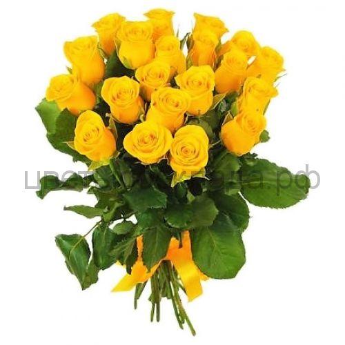 Желтая роза Иллиус  21 штука