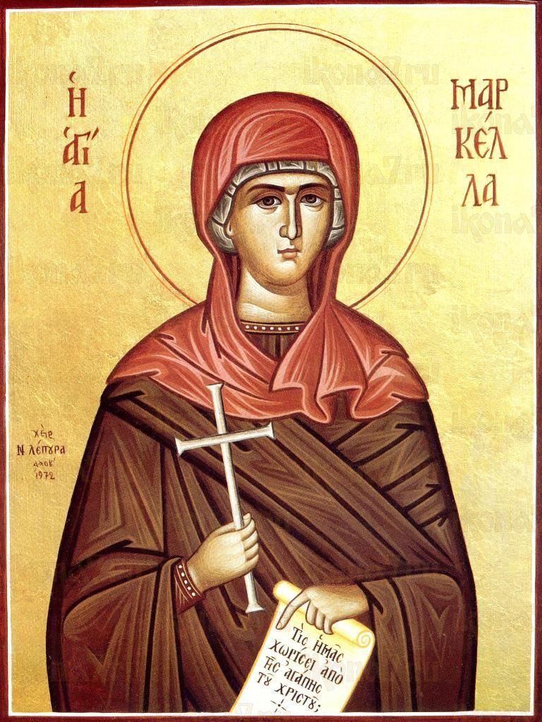 Маркелла Хиосская (икона на дереве)