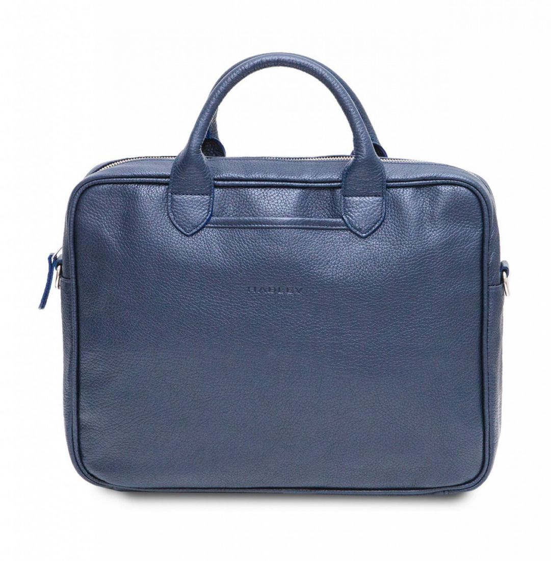 HADLEY CAMP NAVY кожаная деловая сумка