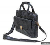 HADLEY MAPLE SMOKY BLACK кожаный портфель
