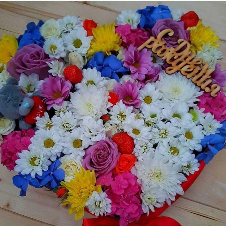 Коробочка из Микс цветов