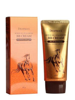 Крем ББ с гиалуроновой кислотой и лошадиным жиром DEOPROCE HORSE OIL HYALURONE BB cream