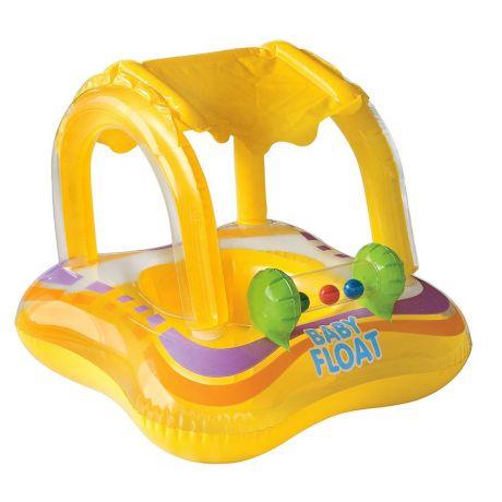 Надувные водные ходунки арт 56581 Baby Float с тентом 81х66см Intex