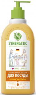 """""""Synergetic"""" Средство биоразлагаемое для мытья посуды, детских игрушек с ароматом апельсина, 0,5л"""