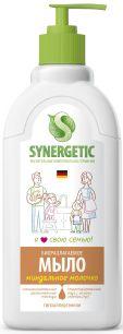 """""""Synergetic"""" Мыло жидкое биоразлагаемое для мытья рук и тела """"Миндальное молочко""""  0.5л"""