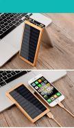 Портативный внешний аккумулятор Power Bank с солнечной батареей 20 000 mAh