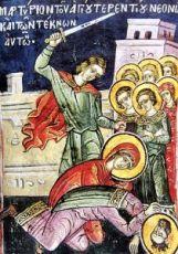 Икона Неонилла Сирийская (копия старинной)