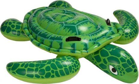 Надувной плотик круг Intex 57524 Черепаха Ride On 150х127 см от 3 лет