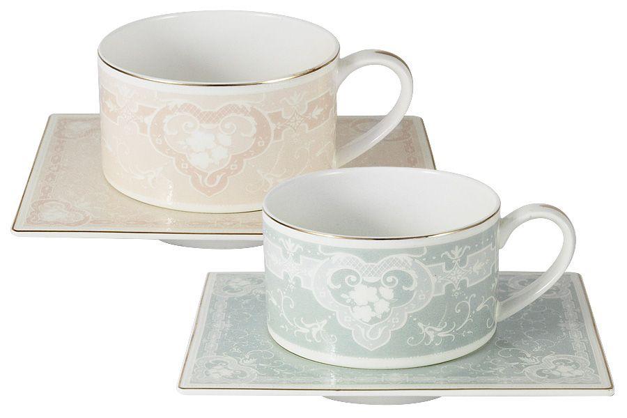 """Чайный набор на 2 персоны """"Инфанта"""" (роз+голуб)"""