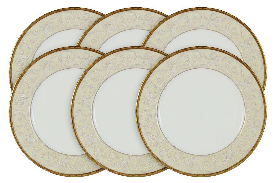 """Набор из 6 тарелок """"Ноктюрн золотой"""", 23 см"""