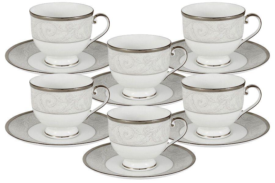 """Чайный набор на 6 персон """"Ноктюрн"""", 12 пр., 0.24 л"""
