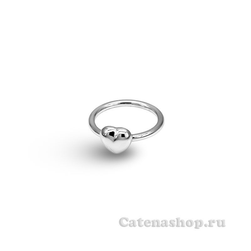 """Кольцо из серебра изящное """"Сердечко"""""""